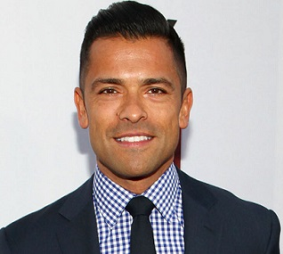 HOLLYWOOD, CA - OCTOBER 14: Mark Consuelos arrives at FX's American Horror Story: Asylum Season Two Premiere Screening at Paramount Studios on October 14, 2012 in Hollywood, California. (Photo by Brian Dowling/PictureGroup/FX)
